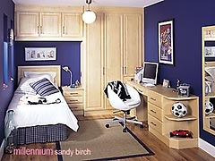 Millennium Sandy Birch fitted bedroom